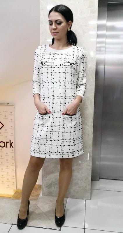 Женское платье Sisline твид меланж 727