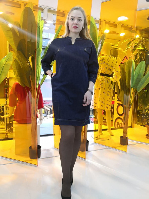 Женское платье Sisline Джинс прямое 740